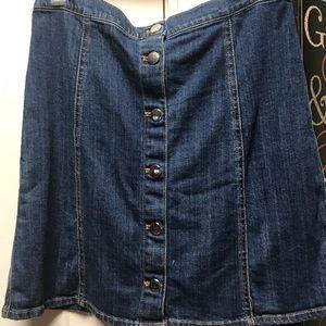 H&M Denim Skirt w/ Silver Buttons